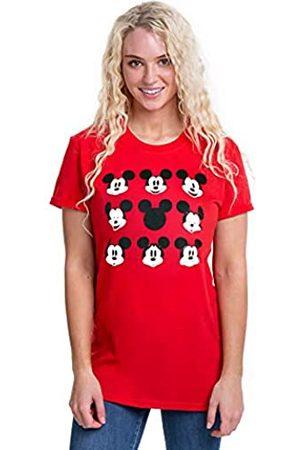 Disney Damen Shirts - Damen Mickey Mouse Face T-Shirt