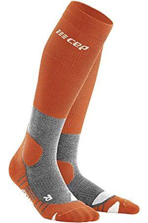 CEP – HIKING MERINO SOCKS REDESIGN für Herren | Knielange Wandersocken mit Kompression in Sunset / Grey | Größe IV