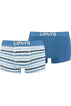 Levi's Mens Men's Label Stripe All-Over-Print (2 Pack) Trunks