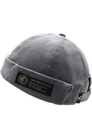 Zegoo Unisex Beanie Kordsamt Docker Krempe Hut Rolled Cuff Harbour Hat - - Einheitsgröße