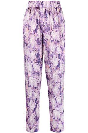 FORTE FORTE Damen Hosen & Jeans - Hose mit Blatt-Print