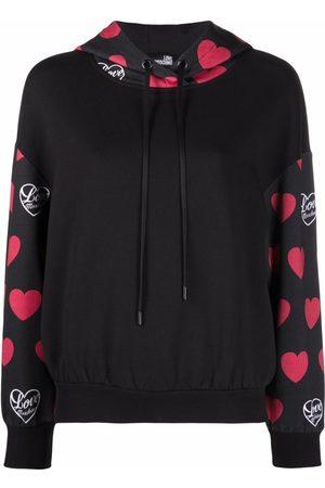 Love Moschino Damen Sweatshirts - Hoodie mit Herz-Logo