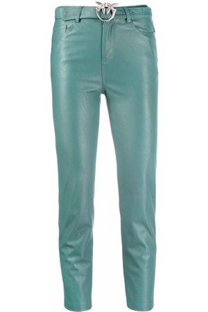 Pinko Cropped-Hose aus Faux-Leder