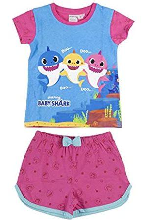 CERDÁ LIFE'S LITTLE MOMENTS Mädchen Pijama Niñas Verano de Color-Licencia Oficial Girls Pink Summer Baby Shark Pyjamas-Offizielle Nickelodeon Lizenz