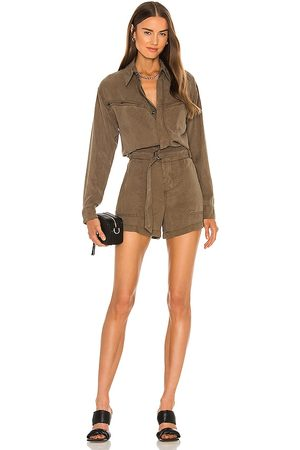 Pam & Gela Belted Utility Romper in . Size M, S, XS.