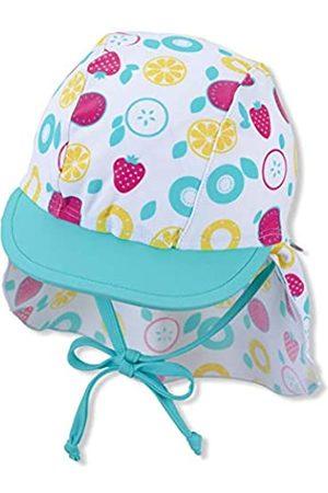 Sterntaler Baby-Mädchen Schirmmütze mit Nackenschutz Früchte Sonnenhut, Weiss