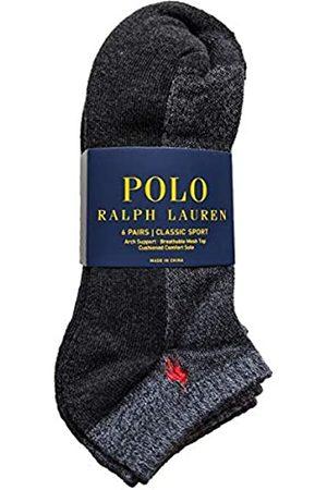 Polo Ralph Lauren Men's Ribbed Low Cut Socks 6-Pairs (Charcoal)