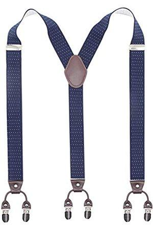 Bioterti Herren Hosenträger Y-Form Heavy Duty Hosenträger - 6 Metall Clips Elastische Bänder - - Einheitsgröße