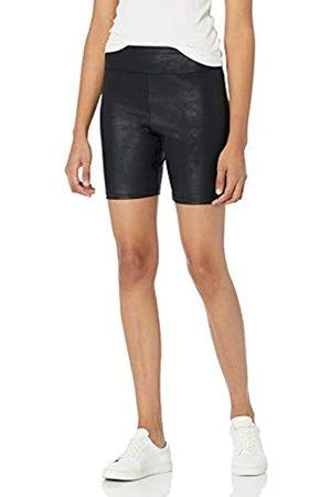THE DROP Damen Fahrrad-Shorts Jackie, enganliegend, Leder-Look