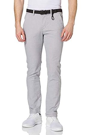 TOM TAILOR Herren 1020451 Straight Chino Hose, 26531-Grey White Dobby