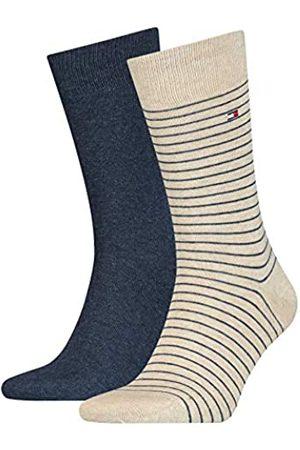 Tommy Hilfiger Kleine Streifen Herren Socken (2er Pack), melange