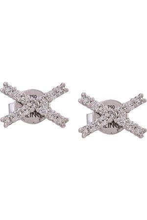 ALINKA Damen Ohrringe - 18kt 'Katia' Weißgoldohrstecker mit Diamanten - Metallisch