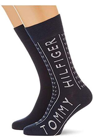 Tommy Hilfiger Mens Wording Men's (2 Pack) Socks