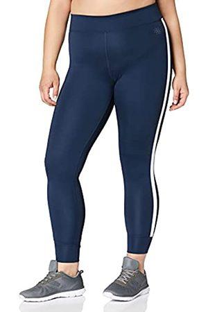 AURIQUE Amazon-Marke: Damen Sportleggings mit Seitenstreifen (Dress Blue), 34