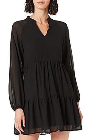 Object Female Kleid in Knielänge Langärmelig 38Black 1