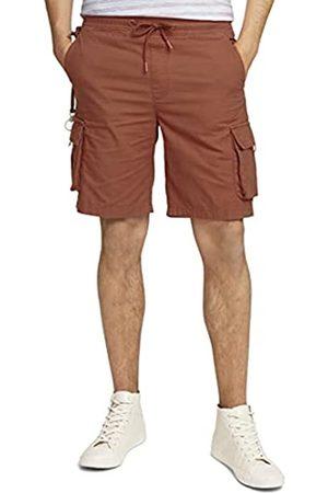 TOM TAILOR Herren Jogginghosen - Herren 1025525 Cargo Jogger Bermuda Shorts, 13054-Goji