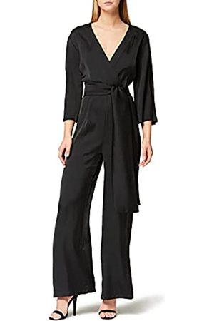 TRUTH & FABLE Damen Jumpsuits - Amazon-Marke: Damen Jumpsuit mit Wickeldesign, 36
