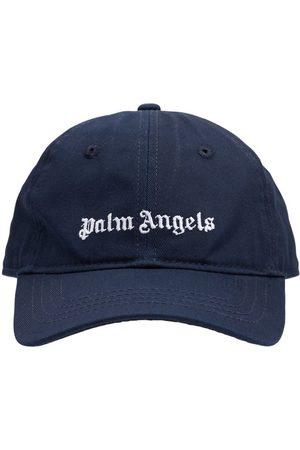 PALM ANGELS Logo Cotton Gabardine Baseball Hat