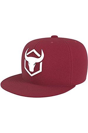 Iron Bull Strength Original Snapback – Verstellbare Größe – Hüte Kappen – Farbe Option - Rot - Einheitsgröße