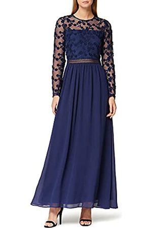 TRUTH & FABLE Damen Lange Kleider - Amazon-Marke: Damen Maxi A-Linien-Kleid aus Spitze, 40