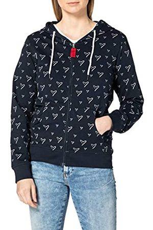 Blue Seven Damen Sweatjacke mit Kapuze Jacke