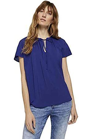 TOM TAILOR Damen Shirts - Damen 1025799 Feminine Bluse, 26529-Anemone Blue