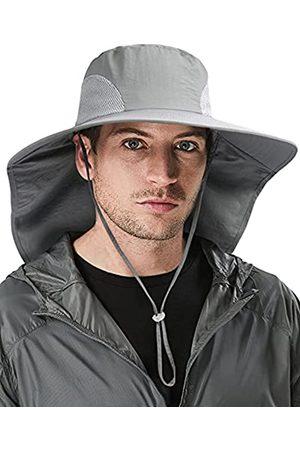 camptrace Damen Herren Wanderhut Fischerhut Wasserdicht Nylon breite Krempe Hut mit großer Nackenklappe UPF 50+ Sonnenschutz Hüte für Damen & Herren - - Einheitsgröße