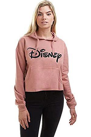 Disney Damen Plain Logo Cropped Hood Kapuzenpullover