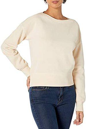 Goodthreads Crop Boat Neck Long Sleeve Heritage Fleece Sweatshirt