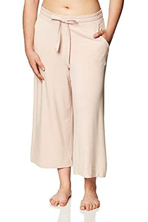 MAE Damen Schlafanzüge - Supersoft French Terry Cropped Lounge Pant Pajama Bottom, rose pink