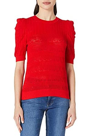 Morgan Damen Pull Maille ajourée col Rond MLILOU Pullover
