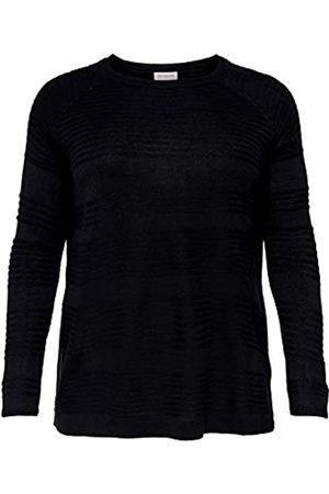 Carmakoma Damen CARAIRPLAIN L/S KNT NOOS Pullover, Black