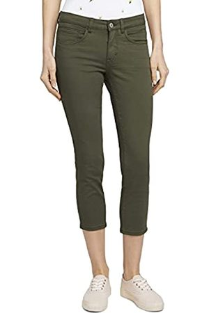 TOM TAILOR Damen 1026637 Alexa Slim Jeans, 10669-Grape Leaf Green