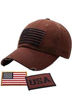 Antourage Amerikanische Flagge Hut für Damen und Herren | Vintage Baseball Tactical Hat Cap mit USA Flagge + 2 Patriotische Patches - - Einheitsgröße