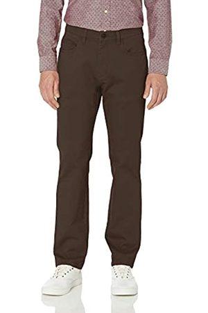 Goodthreads Amazon-Marke: Herrenhose, gerade Passform, 5-Pocket, mit komfortablem Stretch, Chino-Stil, Brown