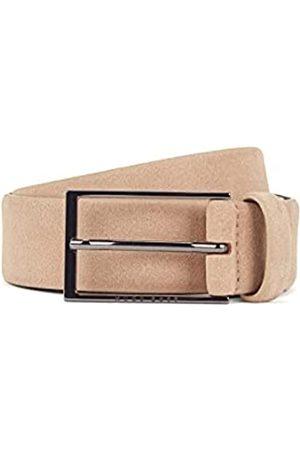 HUGO BOSS Herren Calindo Sz35 Gürtel aus Veloursleder mit Schließe aus poliertem Metall