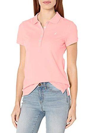 Nautica Damen Poloshirts - Damen 5-Button Short Sleeve Breathable 100% Cotton Polo Shirt Poloshirt