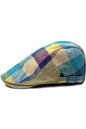 Idopy Farbige Karomütze für Longshoreman's Flat Cap Irish Ivy Driving Golf Newsboy - - Einheitsgröße