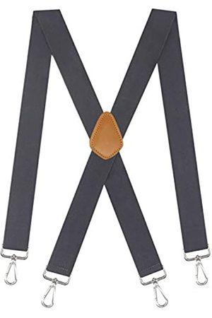 Cedrainy Herren Hosenträger, verstellbar, X schwarz mit 4 drehbaren starken Haken, Werkzeuggürtelschlaufen