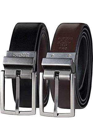 Kenneth Cole Men's U-Turn Reversible Leather Belt,Black/Brown