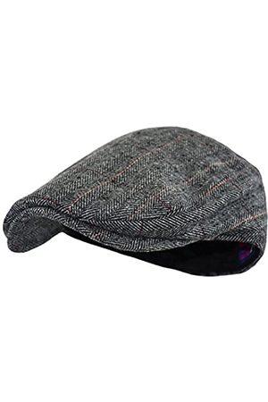 Wonderful Fashion Herren Hüte - Klassischer Herringbone Tweed Newsboy Efeu Hut (Large/X-Large