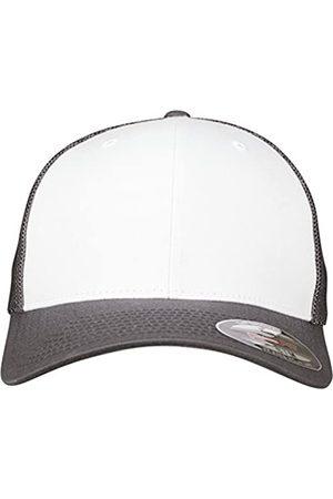 Flexfit Mesh Colored Front Unisex Kappe für Damen und Herren, Mehrfarbig (darkgrey/White)