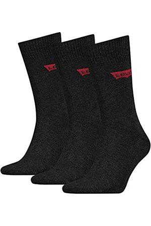 Levi's Unisex Regular Cut Batwing Logo Socken, Anthrazit Melange/