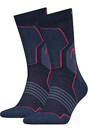 Head Unisex-Adult Crew 2P Hiking Socks, pink/Blue