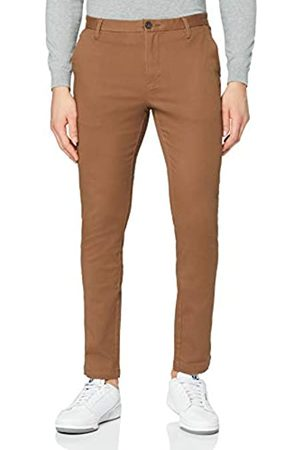 MERAKI Amazon-Marke: Herren Chinohose Slim Fit, Braun (Tobacco Brown), 33W / 34L