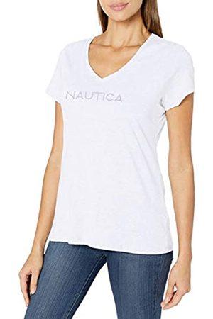 Nautica Damen Easy Comfort Supersoft 100% Cotton Classic Logo T-Shirt