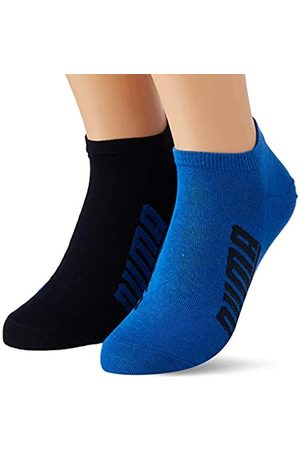 PUMA Unisex-Adult BWT Lifestyle Sneaker-Trainer (2 Pack) Socks, Navy/Grey/Strong Blue