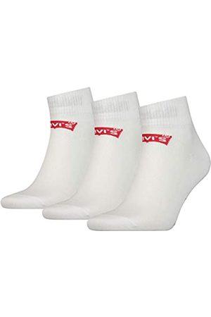 Levi's Herren Unterwäsche - Unisex Mid Cut Batwing Logo Socken, 3er Pack
