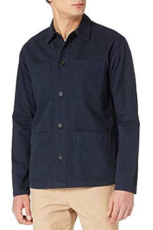 SELECTED Herren Shirts - Male Overshirt Loose Fit schwer LNavy Blazer
