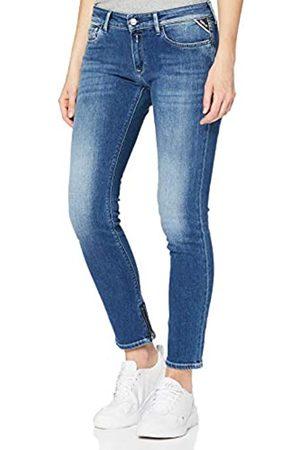 Replay Damen Skinny - Damen LUZ Ankle Zip Skinny Jeans